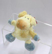 NICI Pig Yellow Stuffed Animal Plush Beanbag Key Chain 4 inches - $11.99