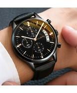 Men Watch Fashion Sport Stainless Steel Case Leather Quartz Business Wri... - $9.89+