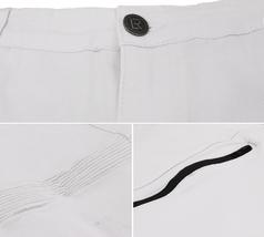 LR Scoop Men's Casual Stretch Denim Pants Moto Quilt Zipper Fashion Solid Jeans image 7
