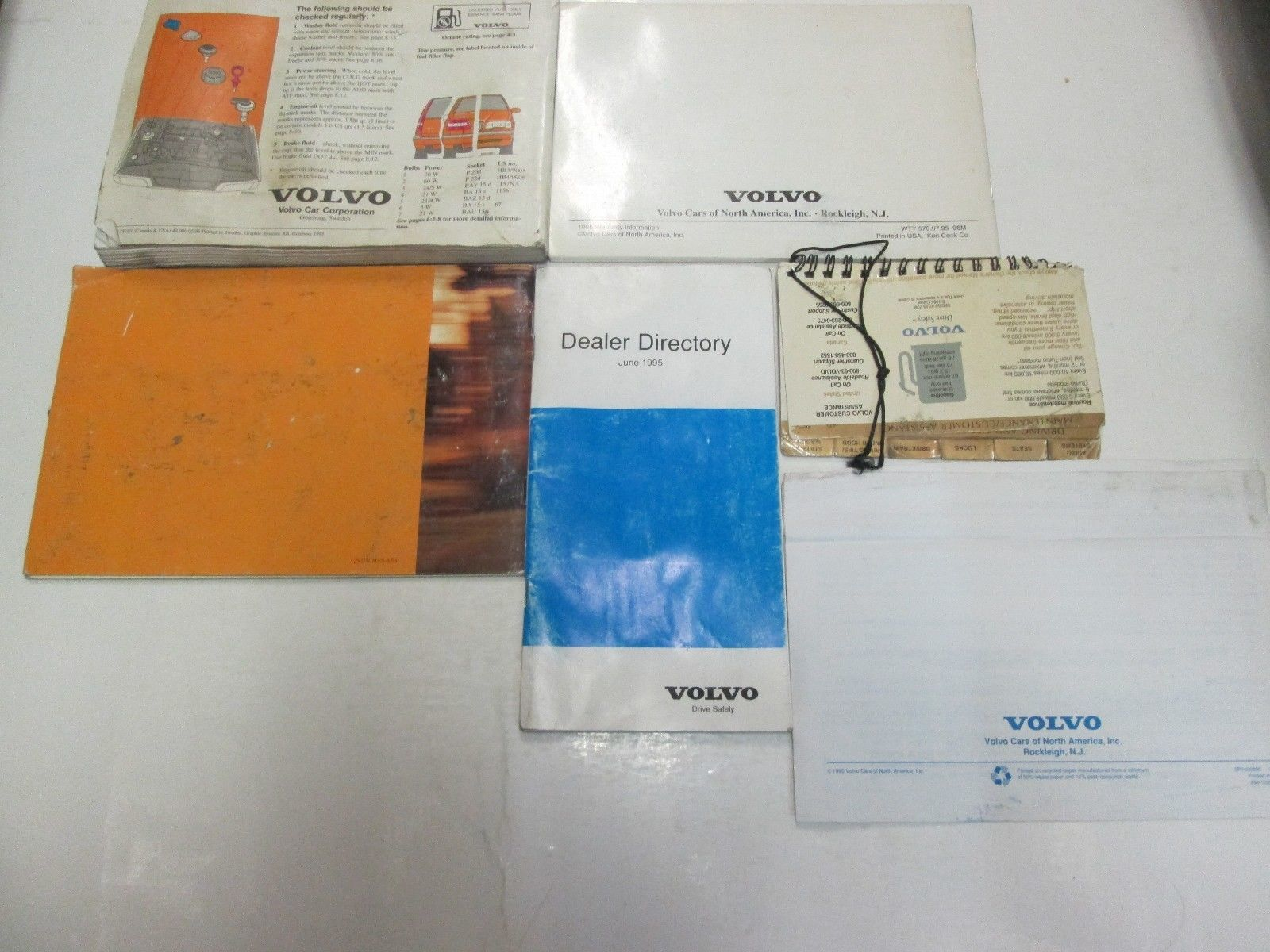 1996 Volvo 850 Owners Manuell Set Wasser Beschädigt Neu Fabrik OEM Buch 96 *** image 12