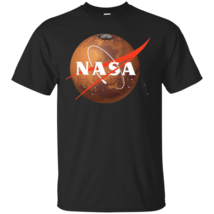 Circle NASA Men Black TShirt S-6XL - $18.69+