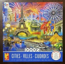 1000 Ceaco Jigsaw Puzzle w/Poster - Paris by Ciro Marchetti -Excellent Condition - $17.33