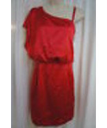 Jessica Simpson Vestido Talla 10 Rojo Tango Asimétrico con Abertura Cóctel - $79.17