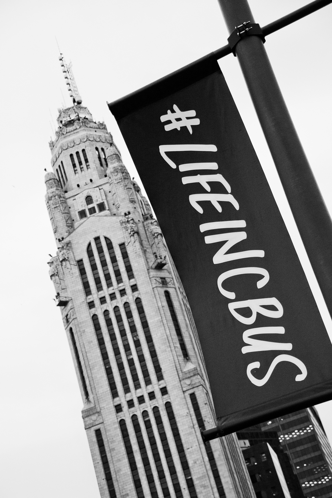 "Columbus, Ohio Black and White Wall Decor Print - ""LifeInCbus"""