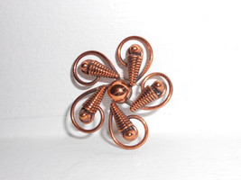 Vintage Copper Brooch Modernist pin by Bell Trading Post late vintage 1960s sout - $22.00