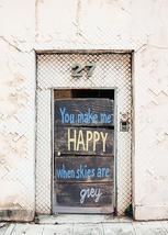 Happy When Skies Are Gray Fabric Door Cover - $49.99+