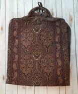 Vera Bradley Garment Bag Travel Soft Carry On Luggage Brown Paisley - $46.74