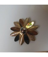 Vintage Signed Sarah Coventry Gold-tone Star Burst Flower Brooch/Pin  - $17.81