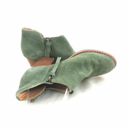6.5 - Schuler & Sons Anthropologie Green Suede Ankle Boots Booties 0000MB image 5