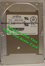 "SSD HITACHI DK211A-51 Replace with this SSD 1GB 2.5"" 44 PIN IDE SSD Card"