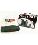 VINTAGE JOHN DEERE MOTORSPORTS HAT & FARM TRACTOR TIN LUNCHBOX SET CHAD ... - $24.95