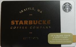 Starbucks 2014 Golden Starbucks Collectible Gift Card New No Value - $3.99