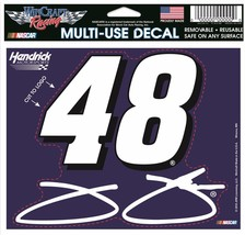 "Nascar #48 Jimmie Johnson Full Color Multi Use 4.5"" x 5.75"" Decal - $3.95"
