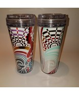 Two Royal Caribbean Cruise Drink Package Cups Tumblers Different Designs... - $25.00