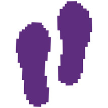 LiteMark Purple Removable Pixelized Footprint Decal Stickers - Pack of 12 - $19.95