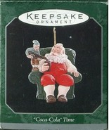 1998 Hallmark Keepsake Ornament Miniature Coca-Cola Time Santa Claus w/Coke - $4.94