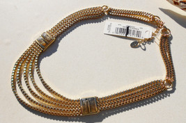 Vintage designer necklace gorgeous Liz Claiborne multi chains and stones runway  - $30.00
