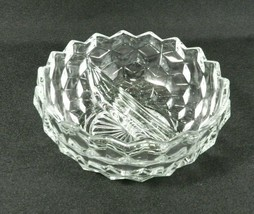 "Vintage Fostoria American Divided Bowl 5.5"" Clear Glass Cubes - $9.89"