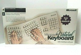 Microsoft Natural Keyboard Windows 95 DOS Intellitype Complete  - $116.88