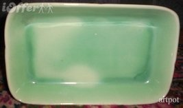 STANGL TOASTMASTER SILVER GREEN APPETIZER / PEN TRAY - $17.45