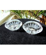 Set of 2 High Quality Irish Crystal Reversible Candle Holders - £21.33 GBP