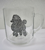 Poodle Dog Camelot Specialties Mug Cup Glass Artist Luminarc Black Show ... - $19.95