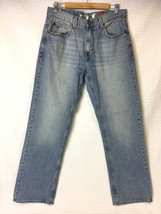 "TOMMY HILFIGER ""Freedom"" Light Wash Jeans 32x32 Denim TH Straight Leg - $19.38"