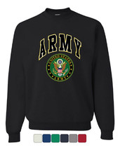 United States Army Crew Neck Sweatshirt Army Crest Patriotic - $15.84