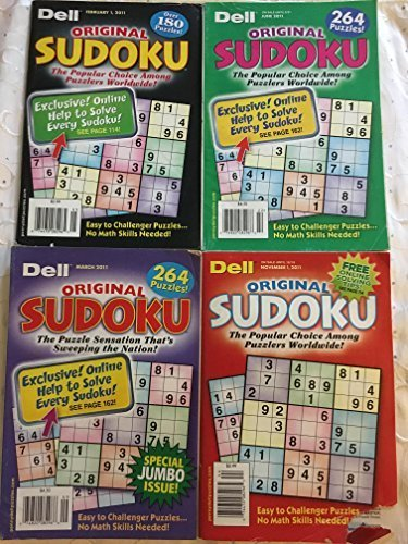 Lot of 5 Original Sudoku DELL Penny Press FAST SHIP $20.95 retail JUMBO Variety