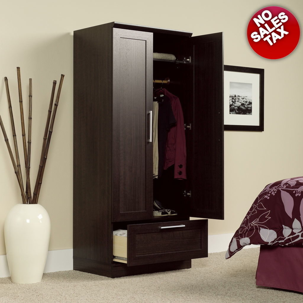 ARMOIRE Wardrobe Storage Cabinet Closet Shelf Organizer Wood Bedroom Furniture, used for sale  USA