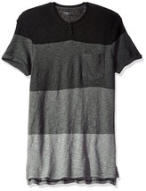 Calvin Klein Jeans Mens Short Sleeve Slub Slit Neck T-Shirt, Small, Blac... - $36.56