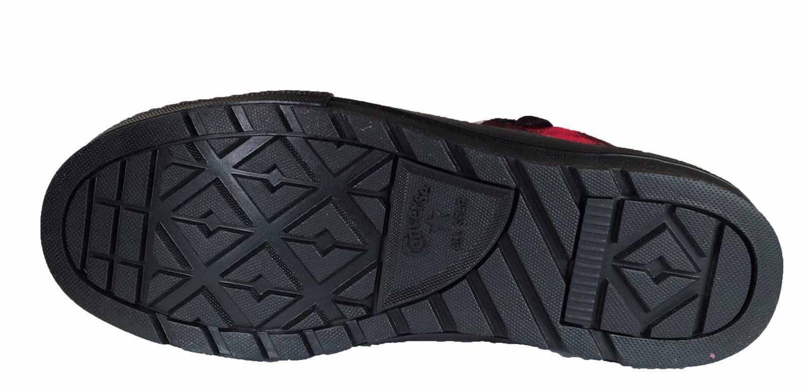 Converse Woolrich Chuck Taylor Street Hiker Sneaker Boot Red Black Plaid 153833C