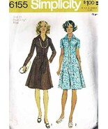 Vintage 1973 Misses' FLARED DRESS Simplicity Pattern 6155-s Size 10 - UNCUT - $10.00