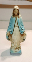 """Vintage Virgin Mary Chalkware Statue 13"""" Blessed Mother Figure Mid Century - $69.25"""
