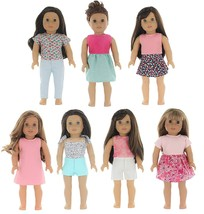 PZAS Toys 7 Outfit Set, 18 Inch Doll Clothes, Compatible with All 18 Inc... - $17.97