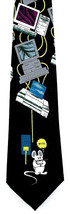 Mouse Byte Mens Necktie Computer Geek Monitor Technology Black Neck Tie New - $15.79