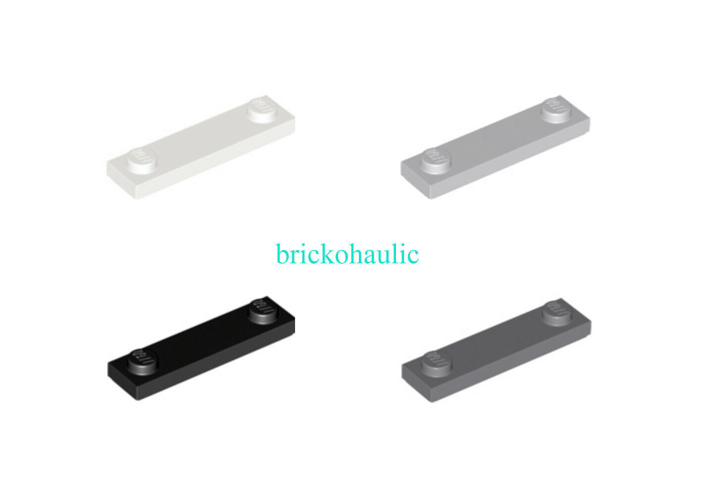 New LEGO Lot of 4 Black 1x2 Door Rail Plate Specialty Parts and Pieces