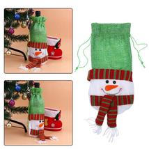 (02)10pcs Creative Merry Christmas Santa Wine Bottle Bag Cover Xmas Dinn... - $50.00