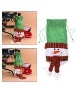 (02)10pcs Creative Merry Christmas Santa Wine Bottle Bag Cover Xmas Dinn... - $50.00