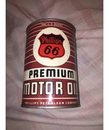 Vintage 1940's Phillips 66 Heavy Duty Premium Motor 1 Qt Metal Can MT bottom out - $75.99