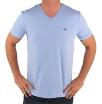 NEW NWT LACOSTE MEN'S ATHLETIC COTTON V-NECK  T-SHIRT MINERAL TH6604 51 L63
