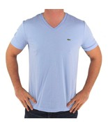 NEW NWT LACOSTE MEN'S ATHLETIC COTTON V-NECK  T-SHIRT MINERAL TH6604 51 L63 - $42.50
