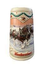 "Budweiser Holiday Stein 1996 ""American Homestead"" - $35.00"
