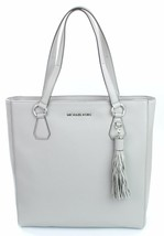 Michael Kors Bedford Leather Pearl Grey Shopper Tote Bag Large Handbag - $379.27