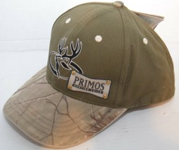 Primos Hunting Calls Cap Hat Hook & Loop Adjustable Deer Camo Realtree HD - $13.30