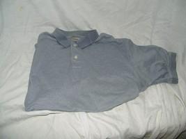 Mens IZOD 100% Cotton POLO GOLF Shirt Size L Blue Stripe 18325 - $13.99
