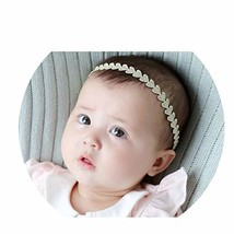 HOLY KT 2Pcs Set Handmade Gold Retro Lace Elastic Cute Headbands for Bab... - $7.11