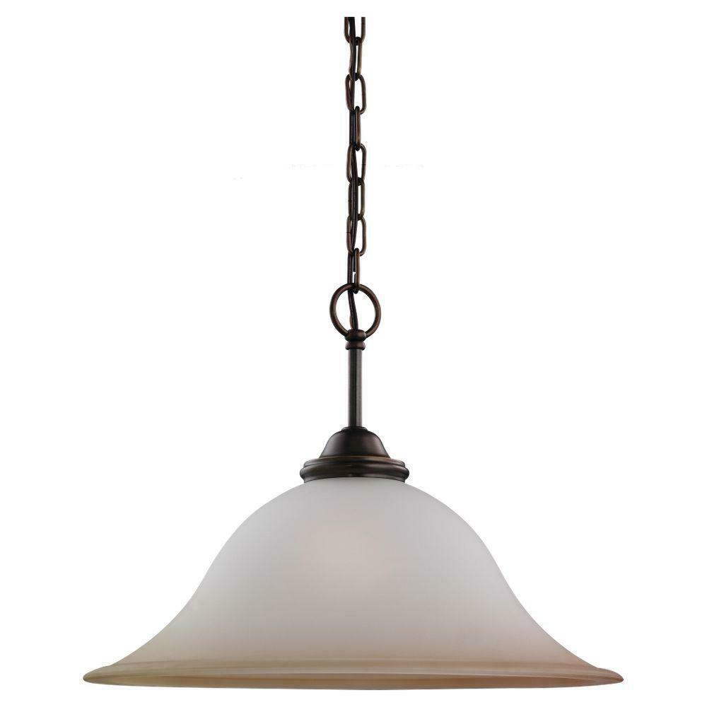 Sea Gull Lighting 65360-829 Rialto 1-Light Pendant Glass Shade Russet Bronze - $47.03