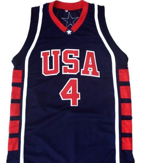 Allen iverson  4 team usa basketball jersey navy blue 1