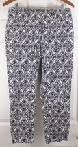 Ann Taylor Loft Riviera Cropped Cream & Blue Floral Julie Fit Dress Pant... - $17.95